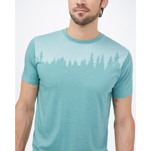 tentree Juniper Classic T-Shirt Mens in Sea Cliff Blue Heather