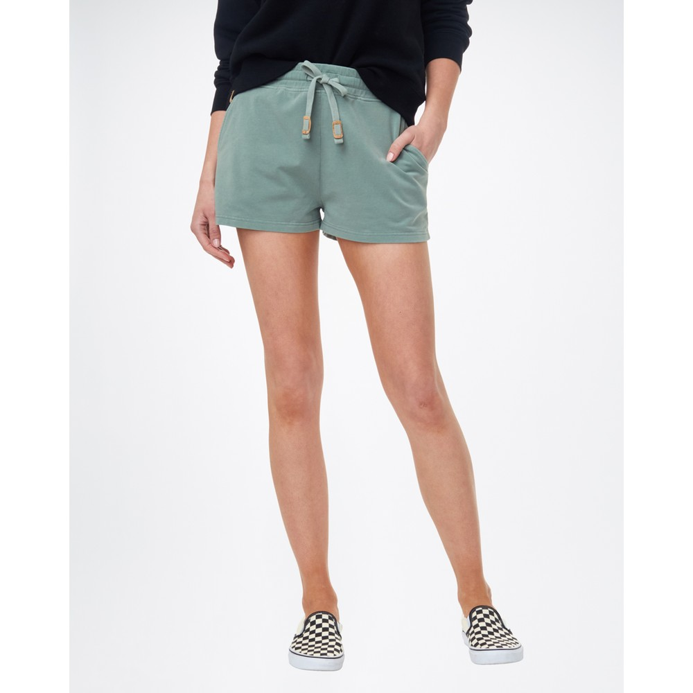tentree French Terry Fulton Short Womens Agave Green