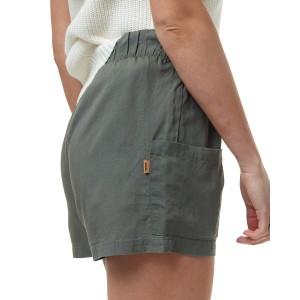 Linen Offshore Short Womens Agave Green