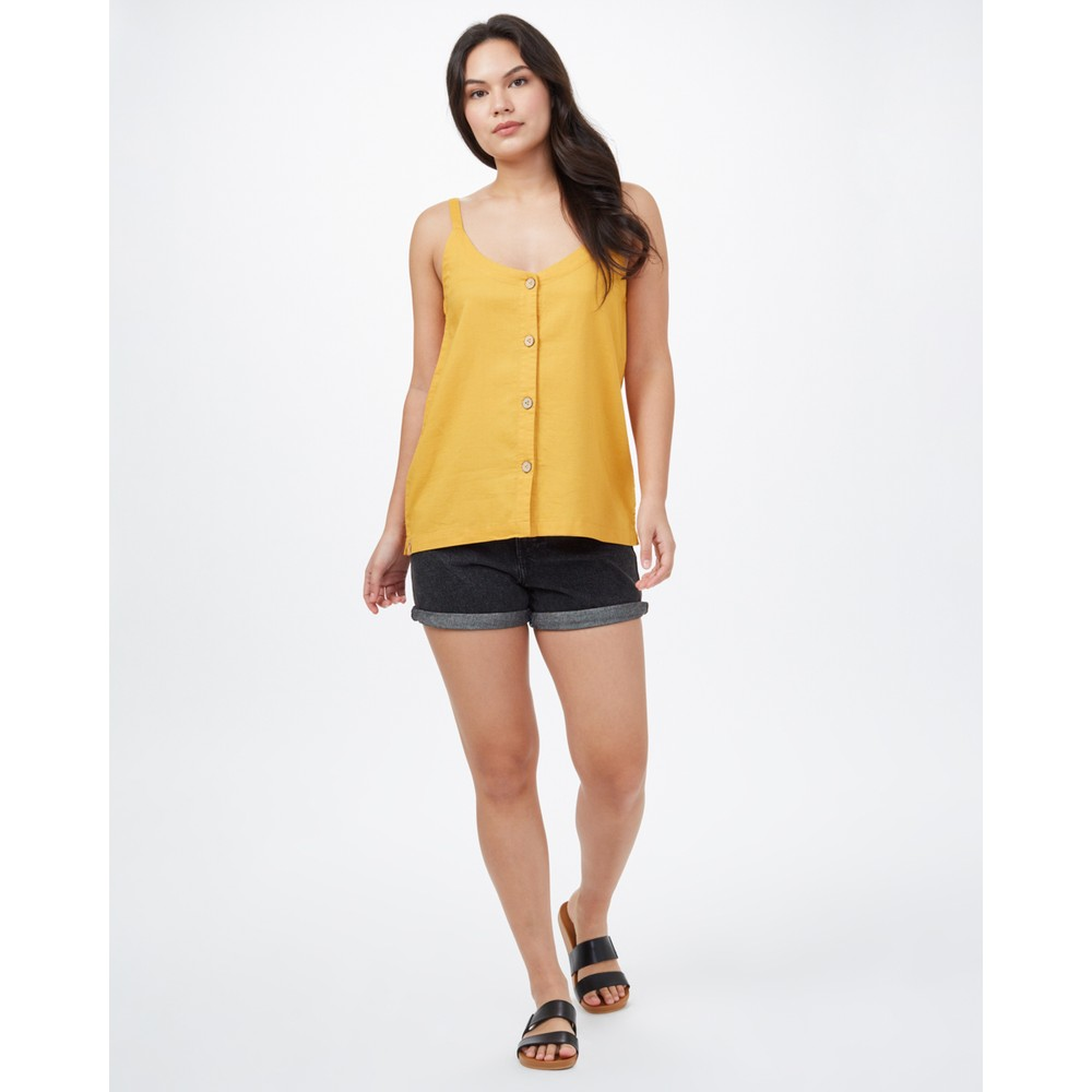 tentree Main Street Tank Womens Honey Gold Yellow