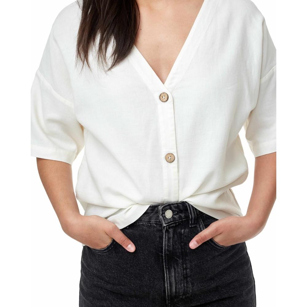 tentree Market Shirt Womens Cloud White