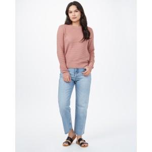Highline Cotton Rib Crew Sweater Womens Burlwood Pink