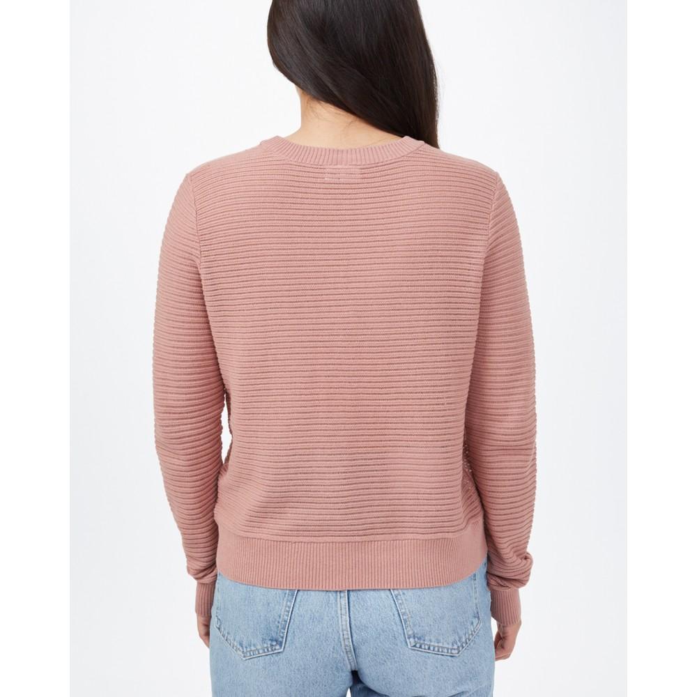 tentree Highline Cotton Rib Crew Sweater Womens Burlwood Pink