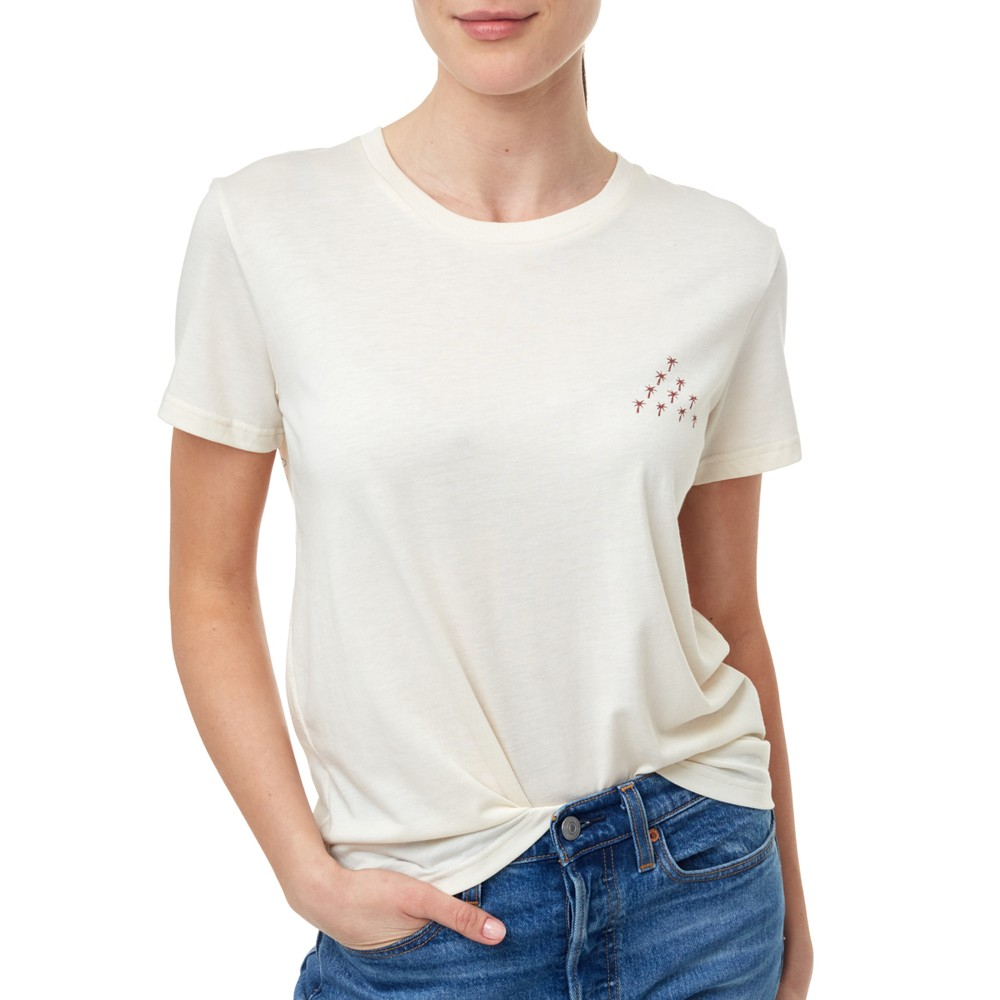 tentree Volcano Views T-Shirt Womens Elm White Heather