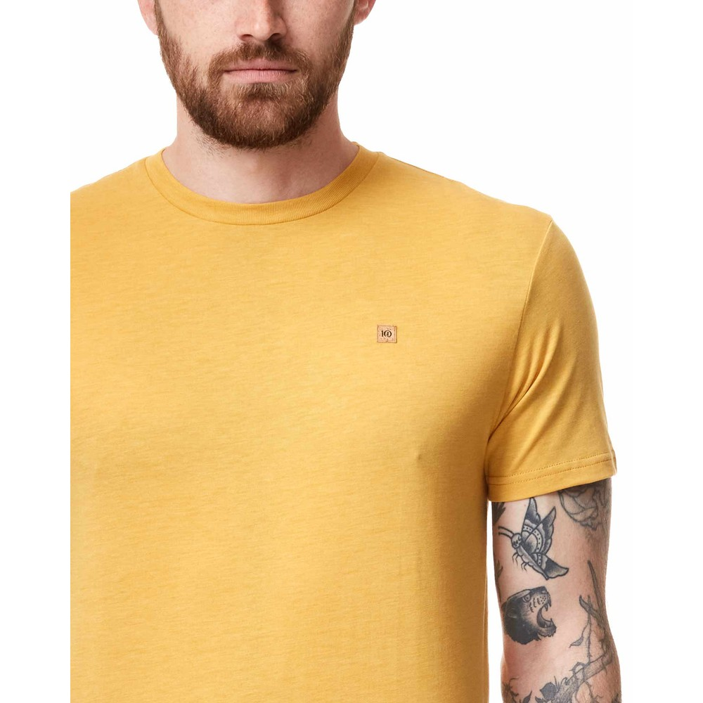 tentree Treeblend Classic T-Shirt Mens Honey Gold Yellow Heather