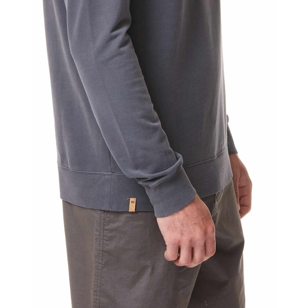 tentree French Terry Classic Crew Mens Periscope Grey
