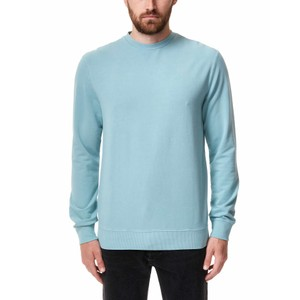 tentree French Terry Classic Crew Mens in Tourmaline Blue