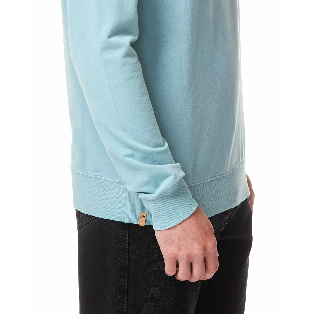 tentree French Terry Classic Crew Mens Tourmaline Blue