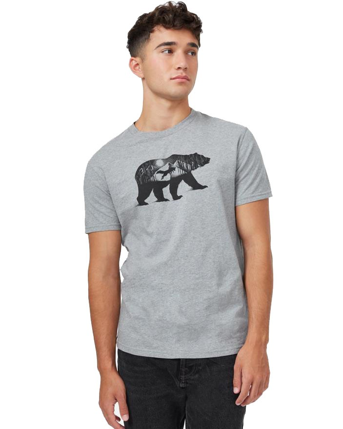 tentree Den Cotton Classic T-Shirt Mens Heather Grey