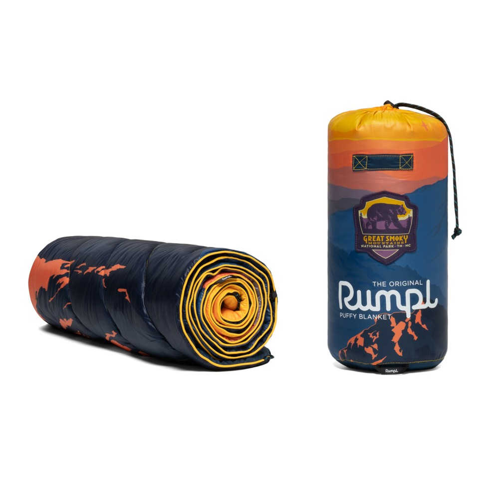 Rumpl Printed Original Puffy Blanket Great Smoky Mountains