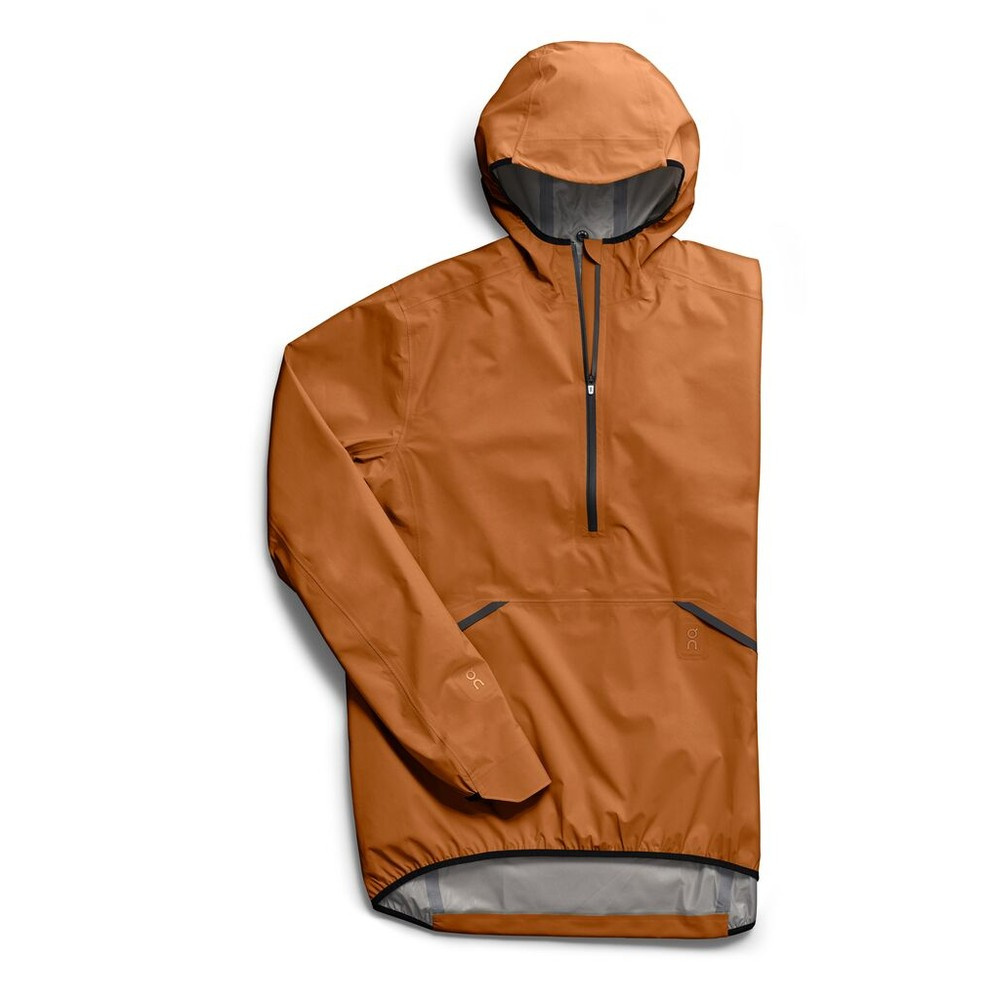 On Running Waterproof Anorak Mens Pecan