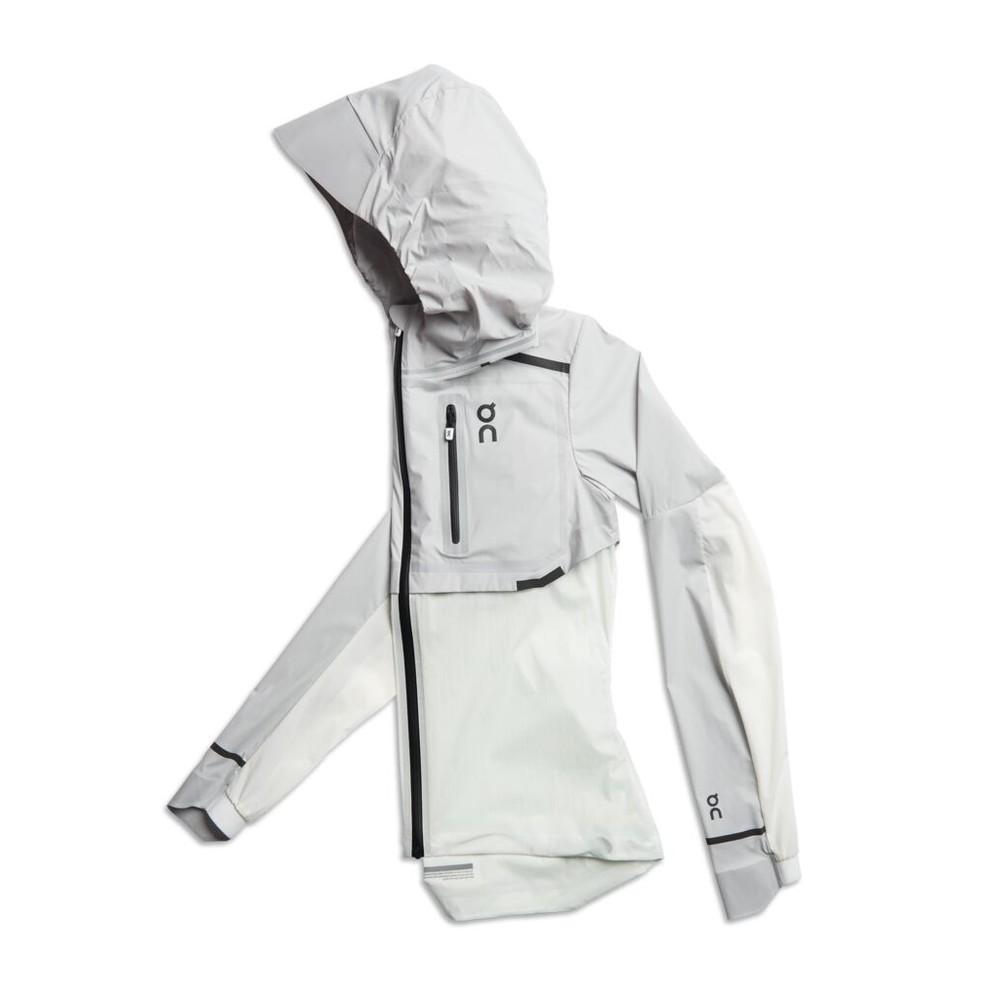 On Running Weather Jacket Womens Grey/White