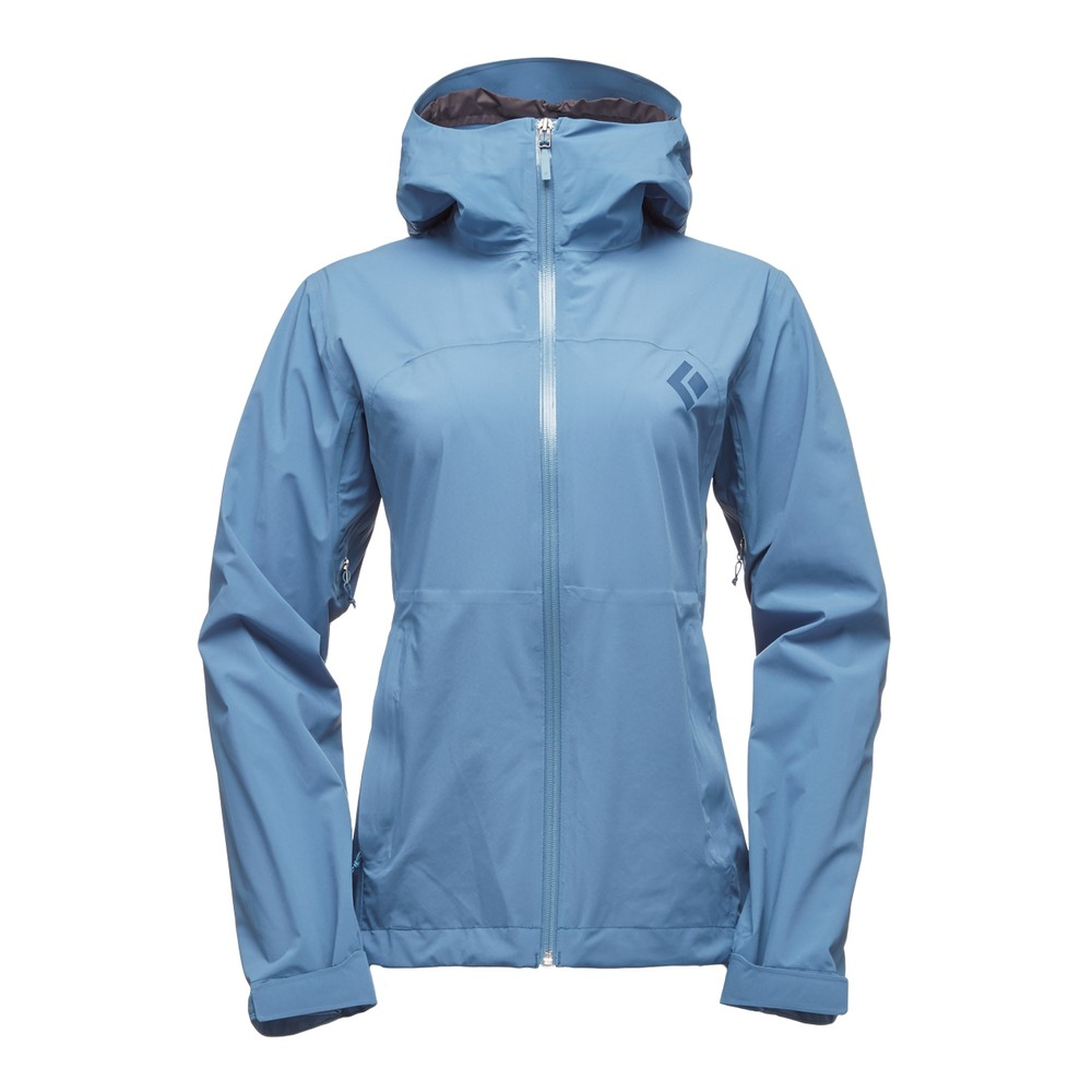 Black Diamond Stormline Stretch Rain Shell Womens Blue Steel