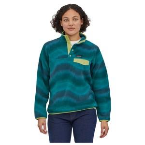 Patagonia LW Synchilla Snap-T Pullover Womens in Aurora:Dark Borealis Green