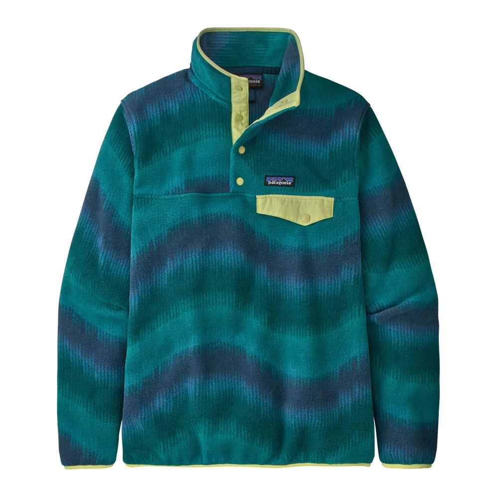 Patagonia LW Synchilla Snap-T Pullover Womens Aurora:Dark Borealis Green