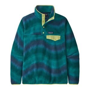 LW Synchilla Snap-T Pullover Womens Aurora:Dark Borealis Green