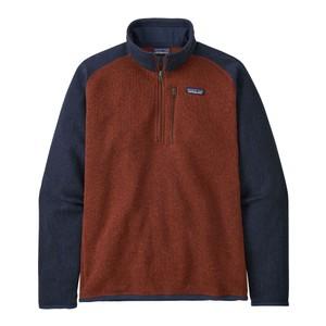 Better Sweater 1/4 Zip Mens Barn Red w/New Navy