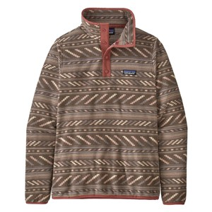 Patagonia Micro D Snap -T P/O Womens in Bergy Bits: Furry Taupe