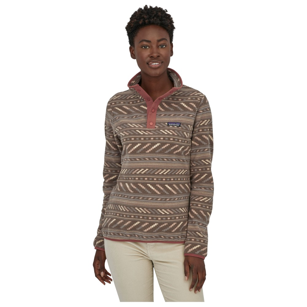 Patagonia Micro D Snap -T P/O Womens Bergy Bits: Furry Taupe