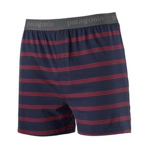 Essential Boxers Mens Pier Stripe:New Navy