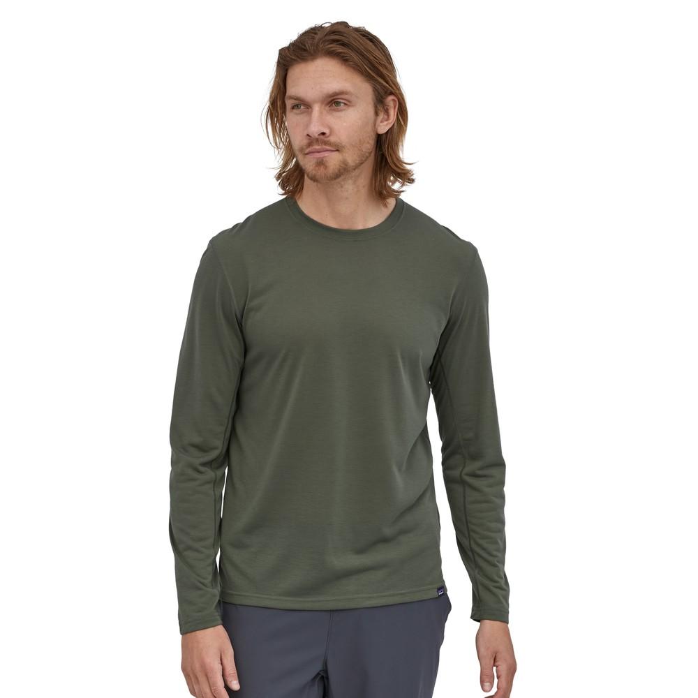Patagonia LS Cap Cool Trail Shirt Mens Industrial Green