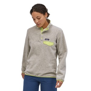 Patagonia LW Synchilla Snap-T Pullover Womens in Oatmeal Heather w/Jellyfish Yellow
