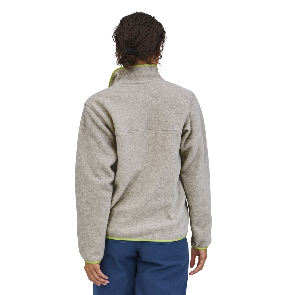 Patagonia LW Synchilla Snap-T Pullover Womens Oatmeal Heather w/Jellyfish Yellow