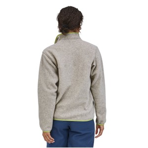 LW Synchilla Snap-T Pullover Womens Oatmeal Heather w/Jellyfish Yellow