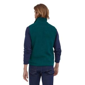 Retro Pile Vest Mens Dark Borealis Green