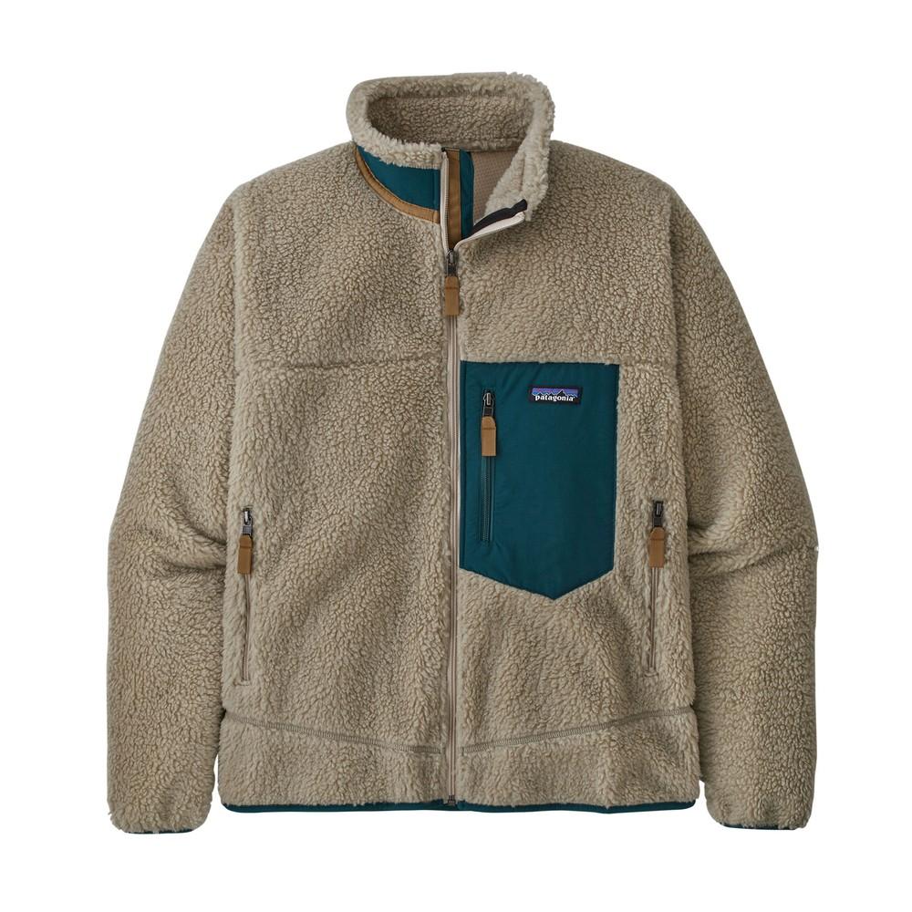 Patagonia Classic Retro-X Jacket Mens Pelican w/Dark Borealis Green