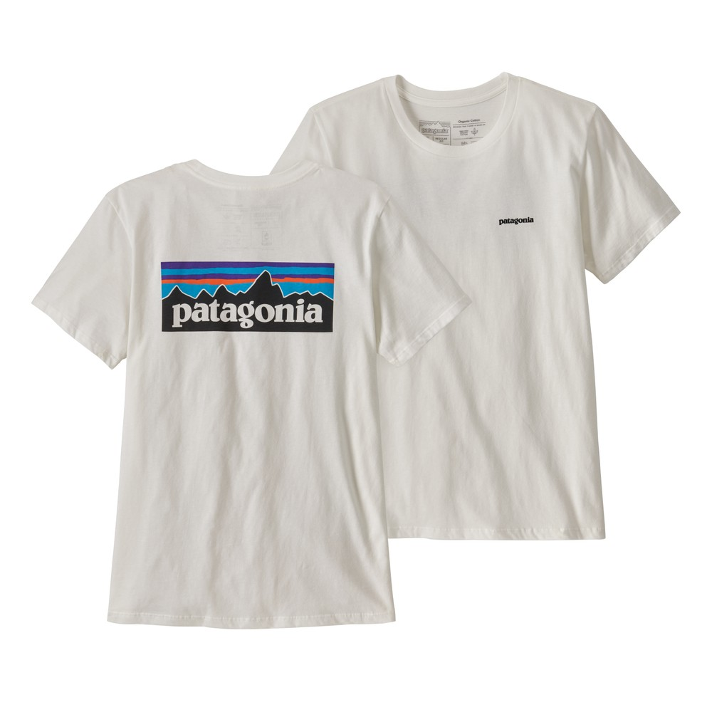 Patagonia P-6 Logo Organic Crew T-Shirt Womens White