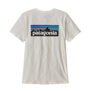 P-6 Logo Organic Crew T-Shirt Womens White