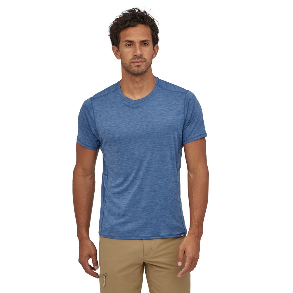 Patagonia Cap Cool Lightweight Shirt Mens Superior Blue - Light Superior Blue X-Dye