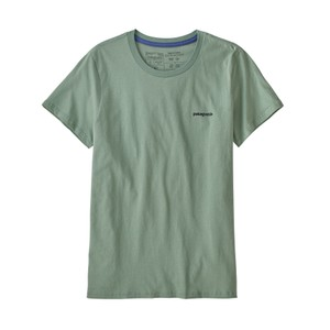 P-6 Logo Organic Crew T-Shirt Womens Sedge Green