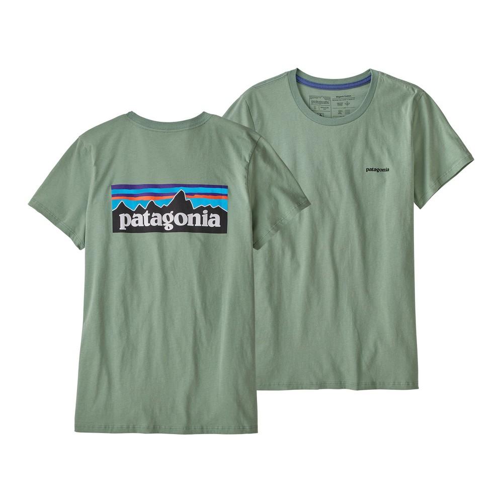 Patagonia P-6 Logo Organic Crew T-Shirt Womens Sedge Green