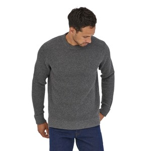 Recycled Wool Sweater Mens Hex Grey