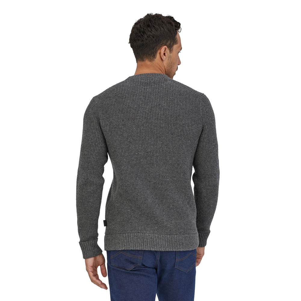 Patagonia Recycled Wool Sweater Mens Hex Grey