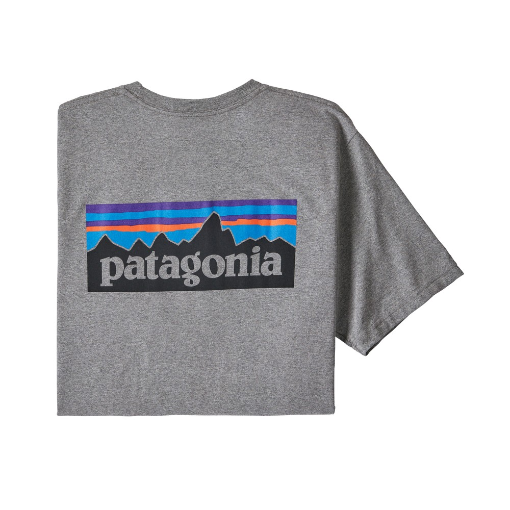 Patagonia P-6 Logo Responsibili-Tee Mens Gravel Heather
