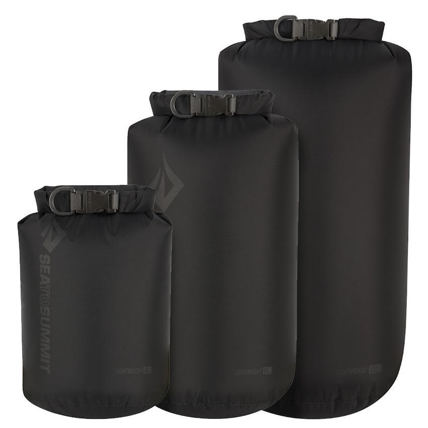Sea To Summit Lightweight 70D Dry Sack 3-piece set 4L,8L,13L Black