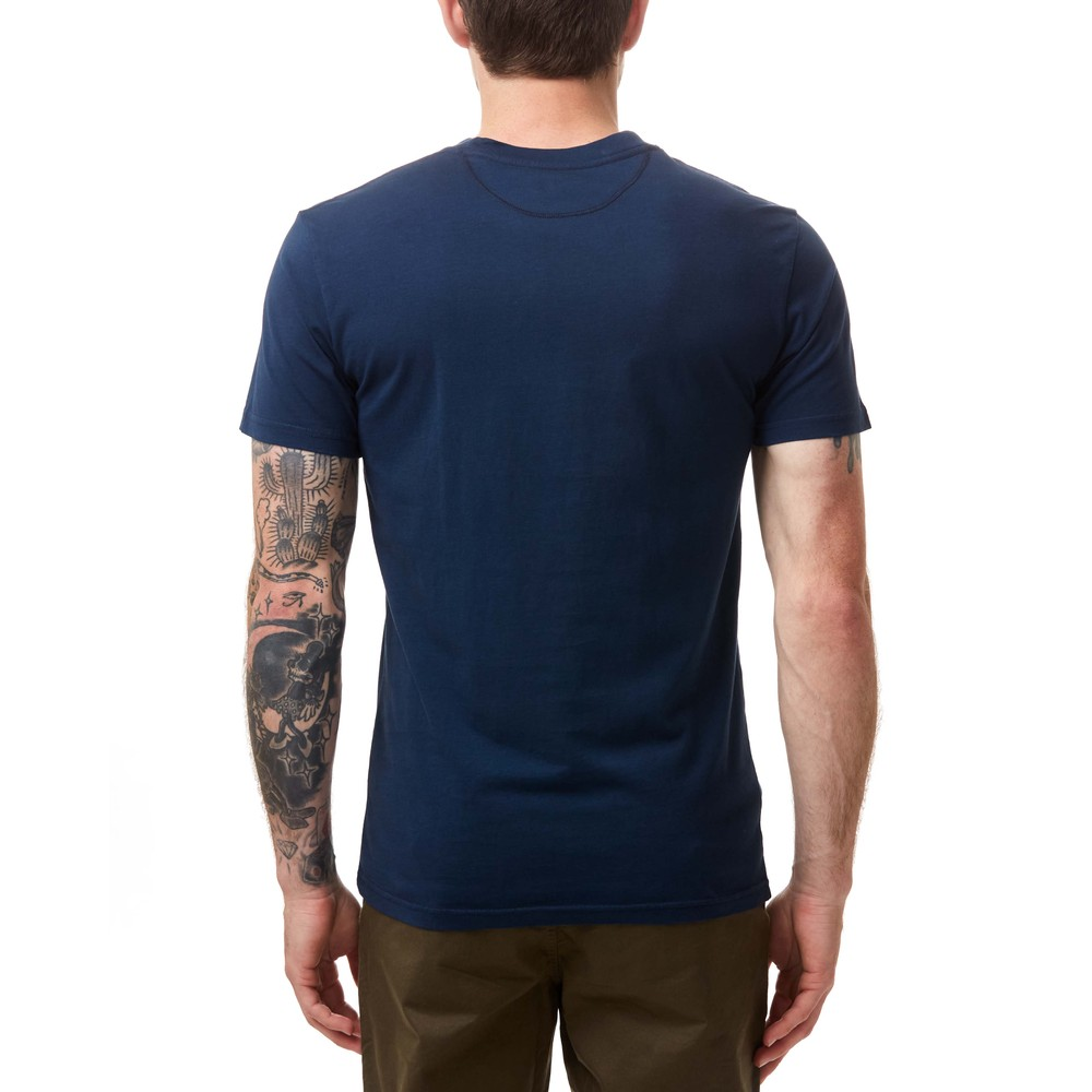 tentree Support T-Shirt Mens Dress Blue