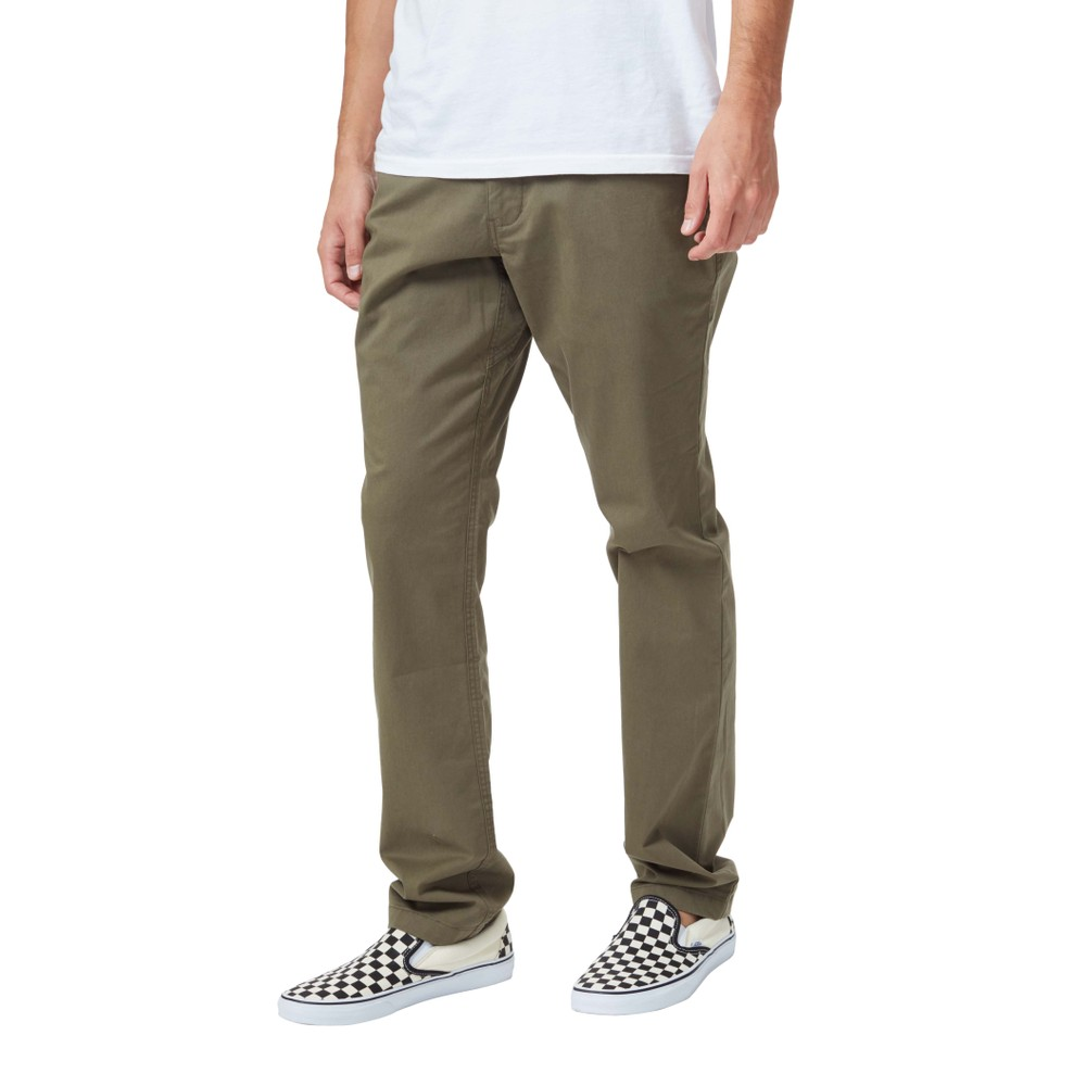 tentree Twill Everywhere Pant Mens Olive Night Green