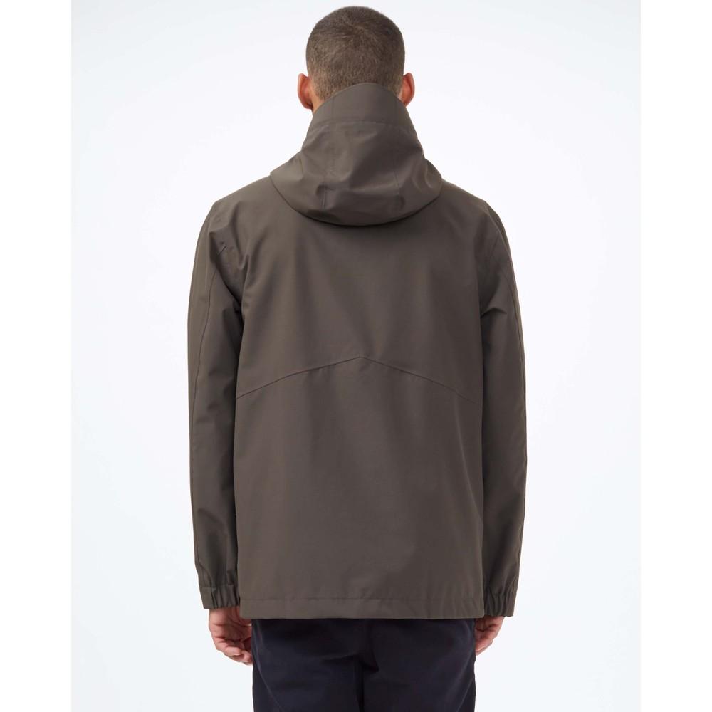 tentree Nimbus Rain Jacket Mens Black Olive Green