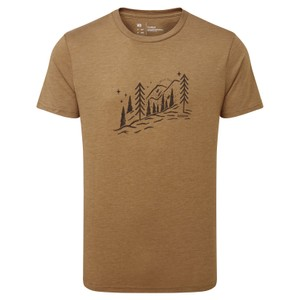 Chill Out T-Shirt Mens Foxtrot Brown Heather