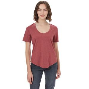 Treeblend V-Neck T-Shirt Womens Apple Butter Red Heather