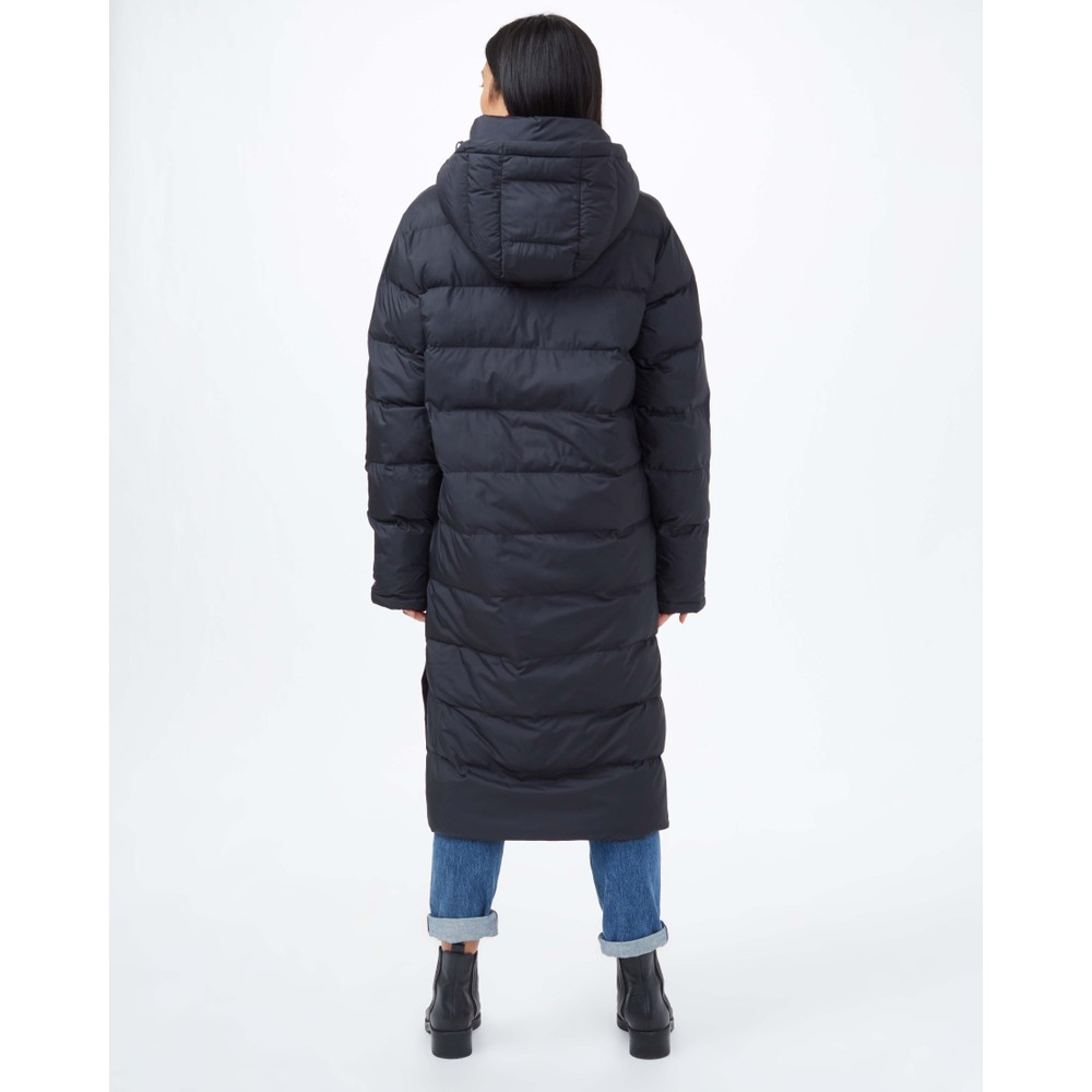 tentree Cloud Shell Long Puffer Womens Jet Black