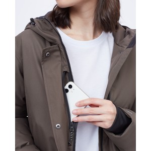 Daily Parka Womens Black Olive Green