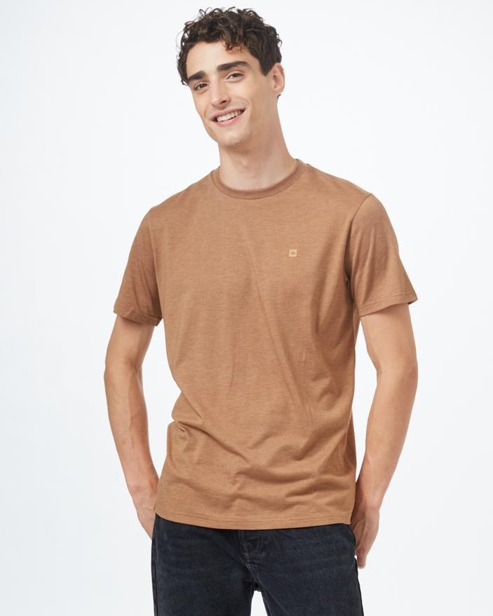 tentree Treeblend Classic T-Shirt Mens Foxtrot Brown Heather