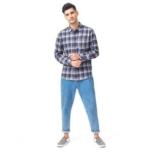 Benson Flannel Shirt Mens Midnight Blue Douglas Plaid