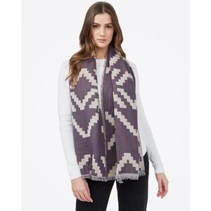 Organic Cotton Sumatra Blanket Scarf Silver Cloud Grey/Periscope Grey