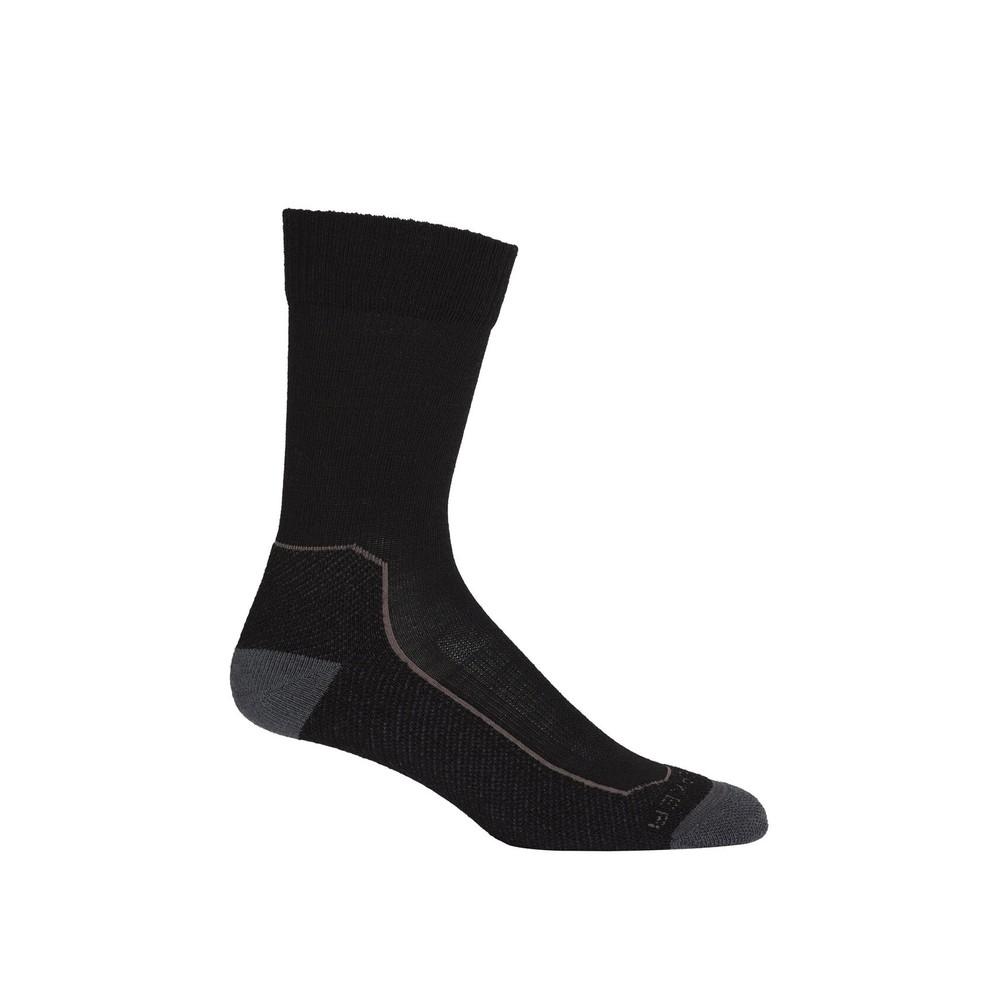 Icebreaker Hike+  Lite Crew Sock Mens Black/Mink/Monsoon